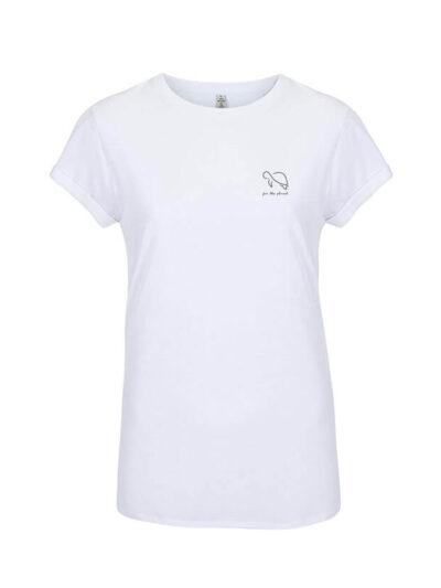 weißes for the planet Shirt für Damen