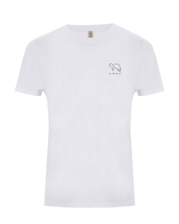 Weißes for the planet Shirt mit Schildkröte
