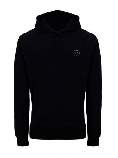 Produktfoto des for the planet Hoodies in schwarz als Beispiel